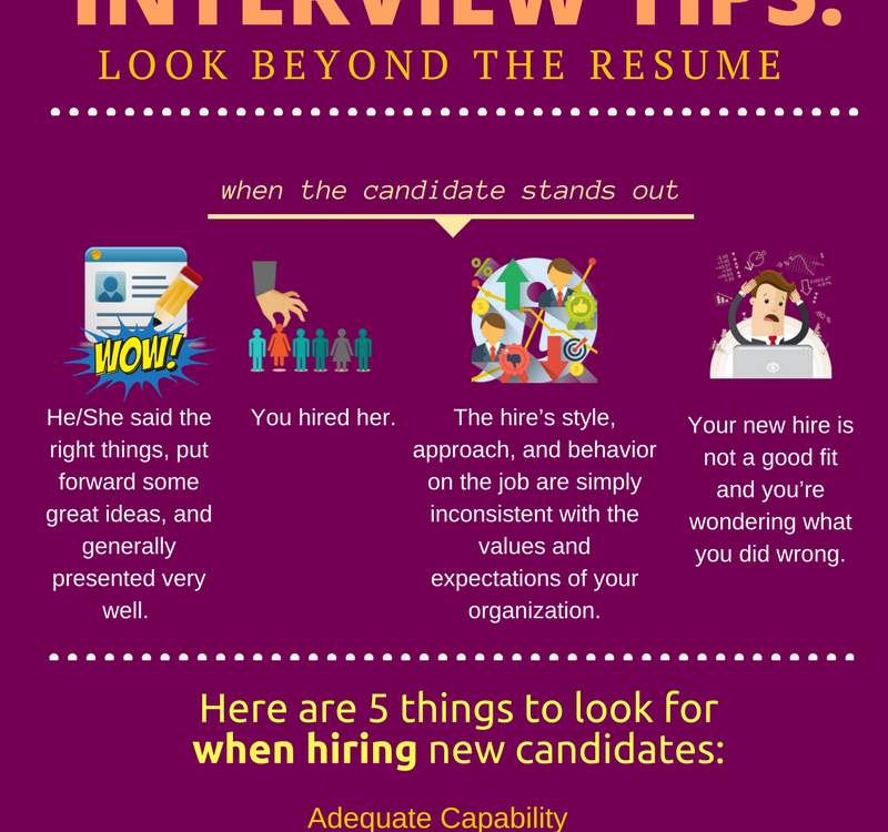 INTERVIEW TIPS: Look Beyond the Resume