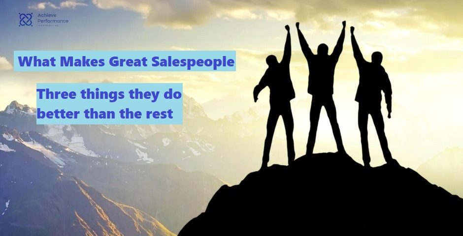 what makes great salespeople